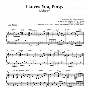 I loves you Porgy - piano sheet music for ballet class adagio exercise