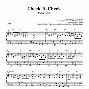 cheek to cheek piano sheet music for ballet class pique tour exercise