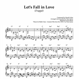 let's fall in love - piano sheet music for ballet class frappe exercise