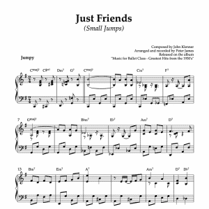 Just Friends - piano sheet music for ballet class small jumps or petit allegro exercise